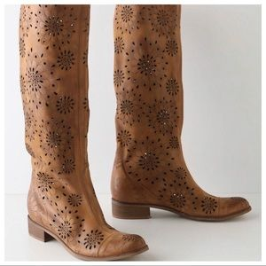 ANTHROPOLOGIE BOHO Leather boots, size 37 (7)